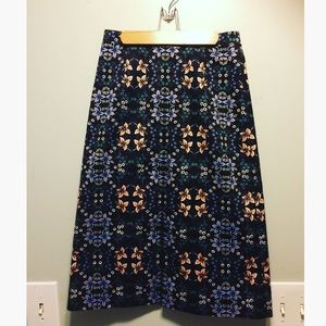 J. Crew A-line Midi Floral Skirt
